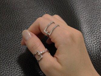 Square buckle ring Sv925バックル リング の画像