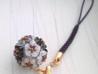 (再販)花手毬の根付け・帯飾り6color(モノトーン)の画像