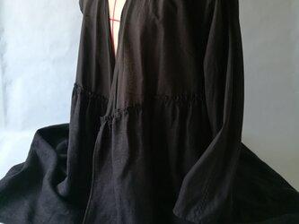 ◆カシュクール / 綿ローン&リネン 黒の画像