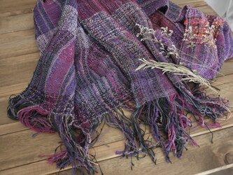 手織り ストール 春夏糸の画像