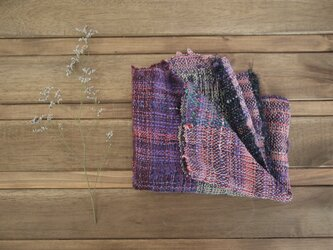 手織り スヌード 春夏糸の画像