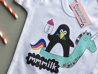 「オーバーオール(ミルク)」赤ちゃん用肌着 (6-12ヶ月児)の画像