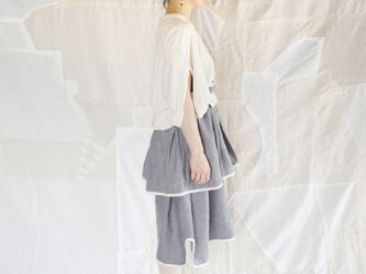 frill tuck double skirtの画像