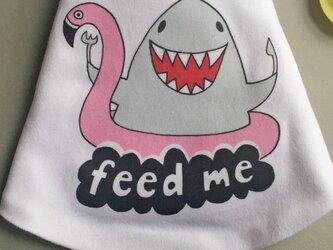 「赤ちゃん用よだれかけ(サメ)」の画像
