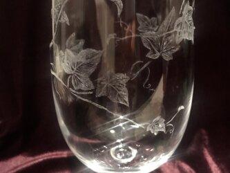 アイビーのグラス②〜手彫りガラス〜の画像