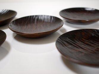 柿四寸皿の画像