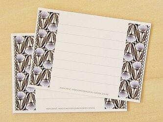 メッセージカード 矢車菊の画像
