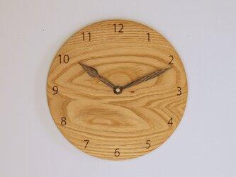 木製 掛け時計 丸 栗材8の画像