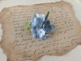 染め花の紫陽花のポニーフック(ライトブルー)の画像