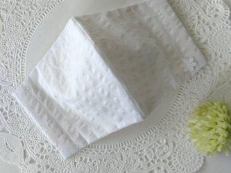 さわやかリップル生地マスク&デイジー刺繍コットン生地マスク☆ASADAさま専用ページ2の画像