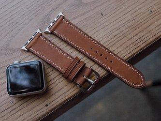 高級レザー使用Apple Watchベルト メンズ時計ベルト 腕時計 革ベルト 皮 革の画像