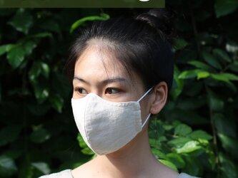 nana様専用ページ【Mサイズ】ヘンプ & コットン 布マスク (クリーム色)の画像