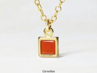 【7月誕生石】上品なオレンジ。カーネリアンのネックレス [送料無料]の画像