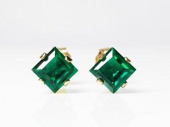 【5月誕生石】上品な緑。エメラルドのピアス [送料無料]の画像