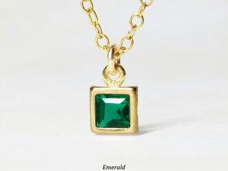 【5月誕生石】上品な緑。エメラルドのネックレス [送料無料]の画像