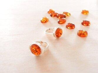 Round Amber Ring (ご予約)の画像