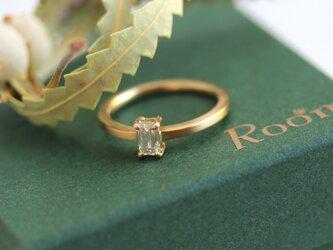 K18 オクタゴンダイヤモンドリングの画像