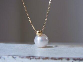 1本限定 K18 あこや真珠のネックレスの画像