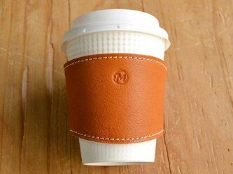 珈琲カップスリーブ 茶の画像