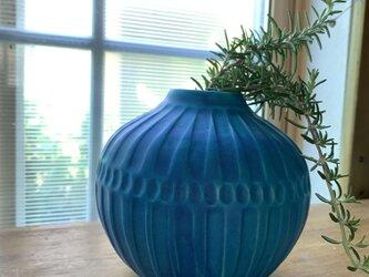 花瓶 ターコイズブルーiの画像