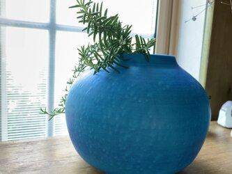 花瓶 ターコイズブルーJの画像