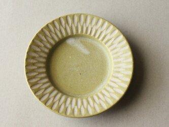 リム付豆皿 イェロー bの画像