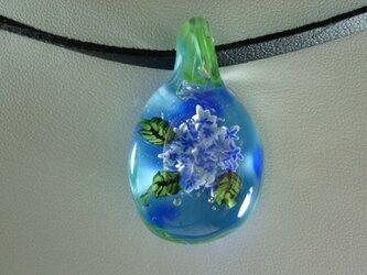 アジサイ、隅田の花火(花、ガラス、ペンダント)の画像