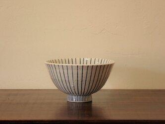 土物染付木賊 飯碗の画像