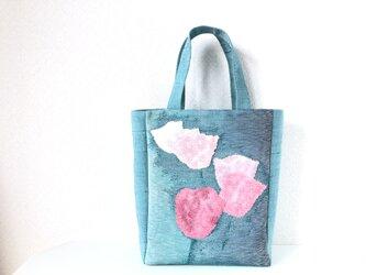 帯バッグ〜ピンクのお花〜の画像