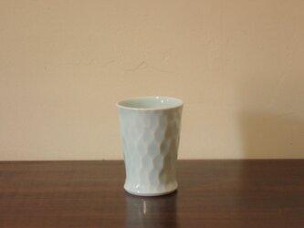 青白磁面取り フリーカップ 小の画像