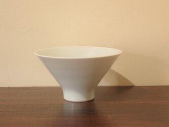 磁器白マット釉 飯碗 大の画像