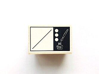 ツメサキラボの手帳用スタンプ「インクとペンの日付スタンプ」の画像