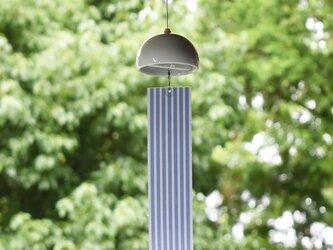 風鈴 (インテリア 風鈴) シングル 縞 陶器 磁器 モダンなデザインの画像