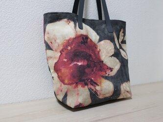再販イギリス花柄リネントートバックの画像