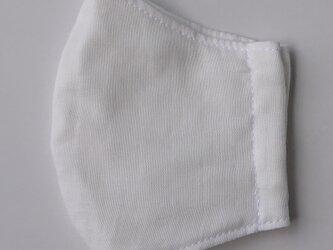 再販 保水涼感マスク 白 大人用Mサイズの画像