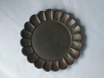 ブラック輪花プレート(6.5寸)の画像