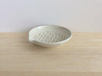 ちょっとおろし皿(白)の画像