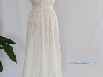ダブルガーゼアンダースカート(白)2wayの画像