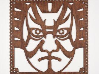 ビッグウッドフレーム「歌舞伎」(木の壁飾り)の画像