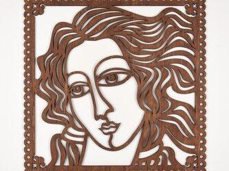 ビッグウッドフレーム「ヴィーナス」(木の壁飾り)の画像