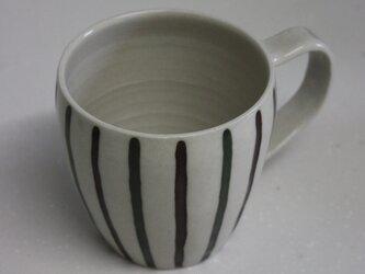 緑と茶色のシノギ埋め込みカップ#1の画像