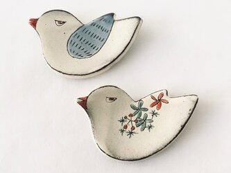 鳥さん箸置き・豆皿の画像
