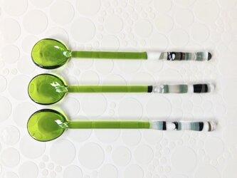 ガラスのティースプーン(①グリーン)の画像