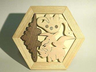 木のパズル 恐竜たち S プテラノドンの獲物 などの画像