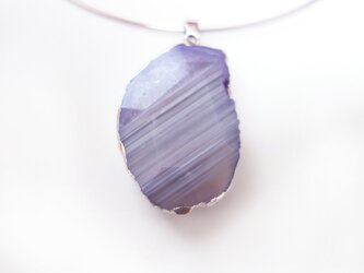 agate necklace lavenderの画像