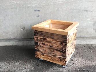 木製 キャスター付き鉢カバー8号サイズの画像