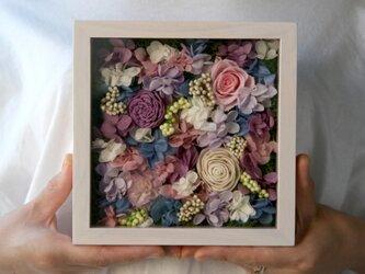 送料無料 アクリル板付きフレーム アレンジ  pinkpurpleの画像