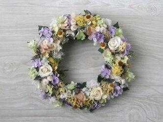 pastel colour wreath lavenderの画像