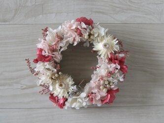送料無料   pink raspberry wreathの画像