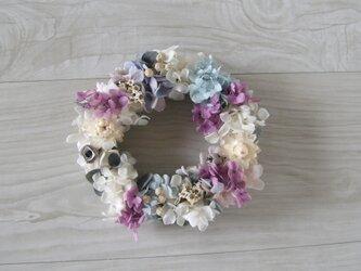 送料無料 blue purple wreathの画像